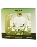 Crystal Head Vodka med 4 glas